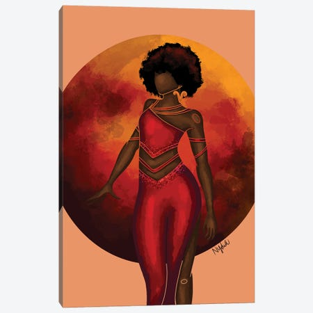 Aries Canvas Print #FRC2} by Colored Afros Art Canvas Wall Art