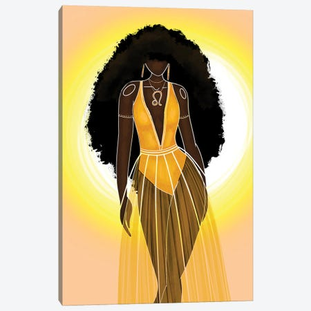 Leo Canvas Print #FRC30} by Colored Afros Art Canvas Art Print