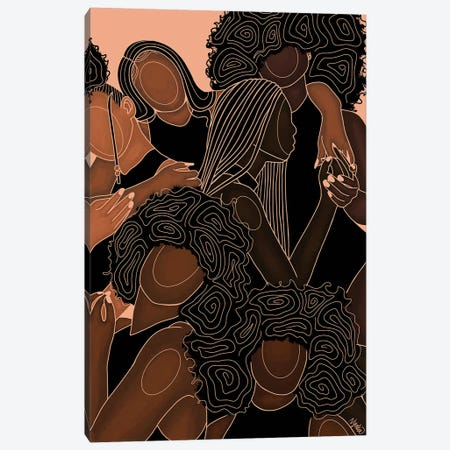 Melanin Sistas Canvas Print #FRC33} by Colored Afros Art Art Print