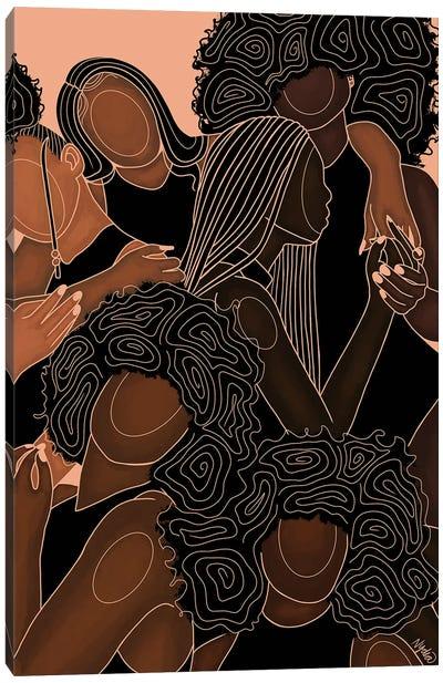 Melanin Sistas Canvas Art Print