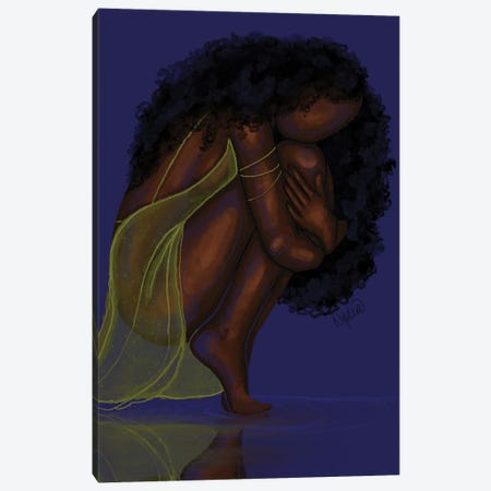 Reflection Canvas Print #FRC37} by Colored Afros Art Canvas Art