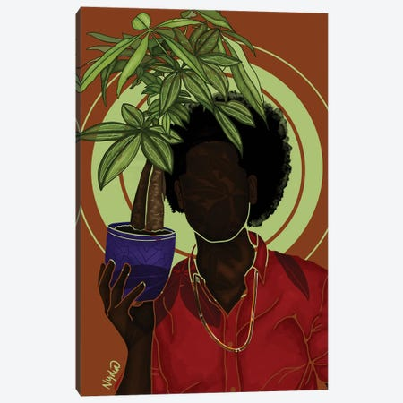 Money Trees Canvas Print #FRC42} by Colored Afros Art Canvas Art