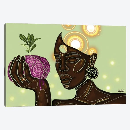 Pink Matter Canvas Print #FRC48} by Colored Afros Art Canvas Wall Art