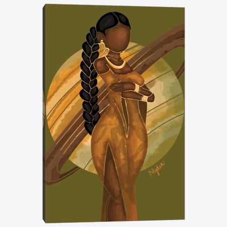 Capricorn Canvas Print #FRC4} by Colored Afros Art Canvas Print