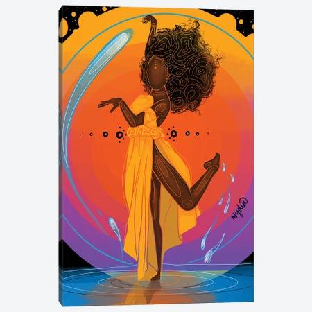 Energy Enchantress Canvas Print #FRC50} by Colored Afros Art Art Print