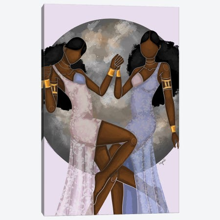 Gemini Canvas Print #FRC6} by Colored Afros Art Art Print