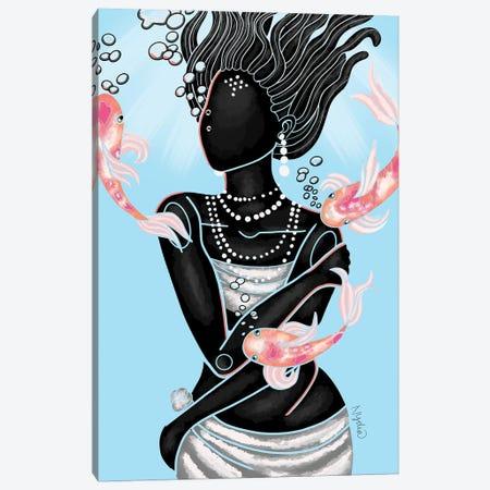 Koi Canvas Print #FRC7} by Colored Afros Art Canvas Art Print