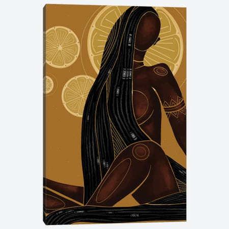 Lemonade Canvas Print #FRC8} by Colored Afros Art Canvas Wall Art