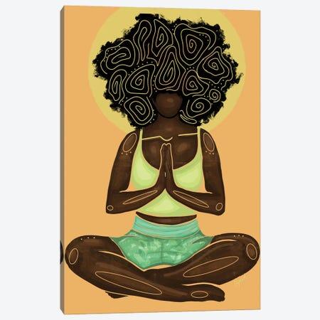 Meditation Canvas Print #FRC9} by Colored Afros Art Canvas Art
