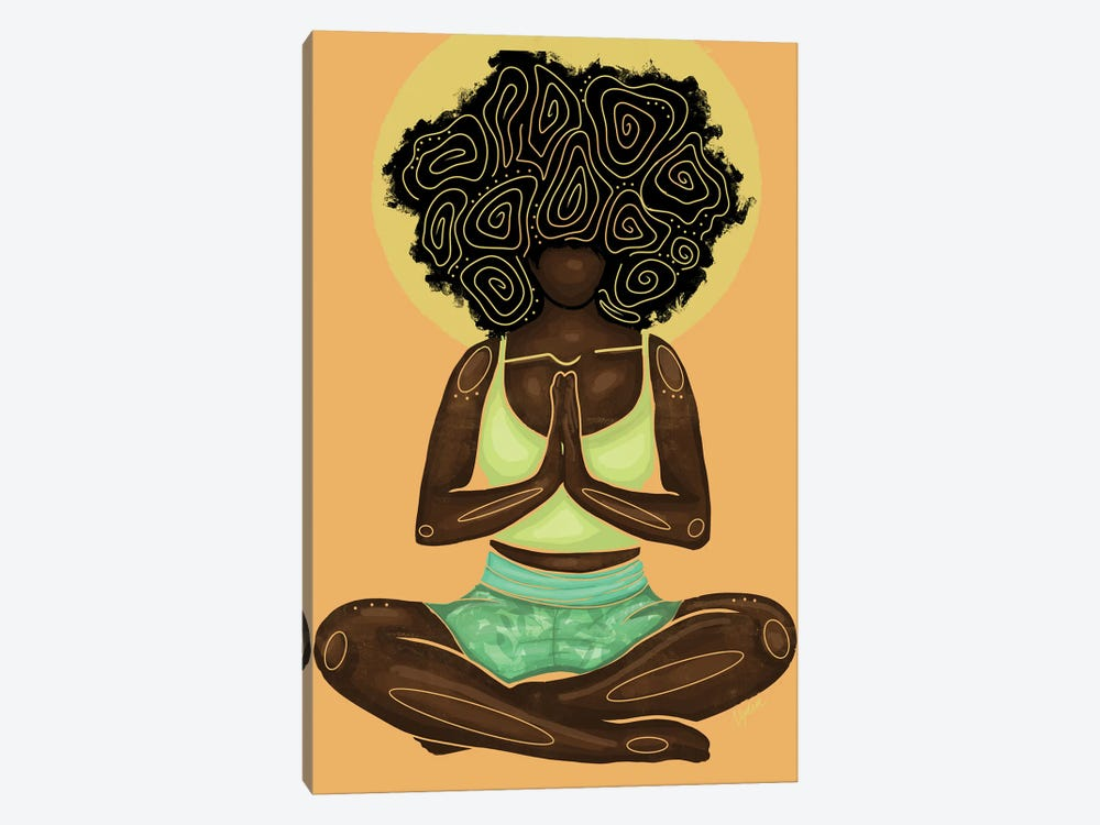 Meditation by Colored Afros Art 1-piece Art Print