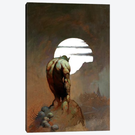 Nightstalker Canvas Print #FRF10} by Frank Frazetta Canvas Artwork