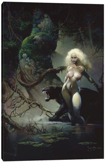 Princess And The Panther Canvas Art Print