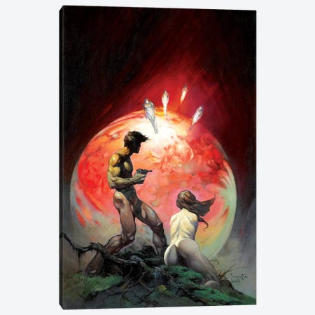 Red Planet Canvas Print #FRF12} by Frank Frazetta Canvas Art