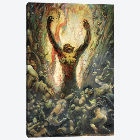 Reign of Wizardry Canvas Print #FRF13} by Frank Frazetta Canvas Art