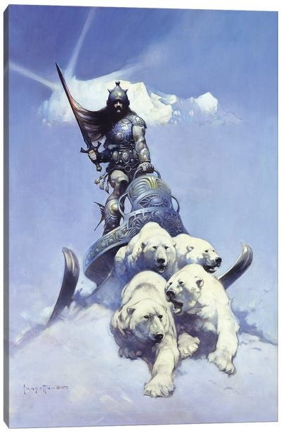 Silver Warrior Canvas Art Print