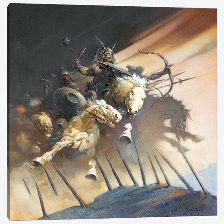 The Huns Canvas Print #FRF15} by Frank Frazetta Art Print