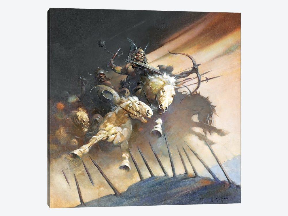 The Huns by Frank Frazetta 1-piece Canvas Wall Art