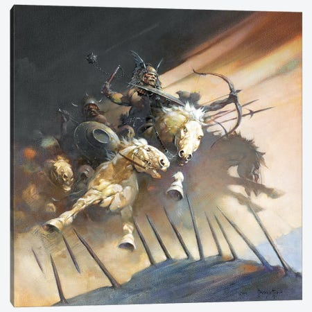 The Huns Canvas Print #FRF15} by Frank Frazetta Art Print