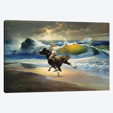 Wild Ride Canvas Print #FRF16} by Frank Frazetta Canvas Art Print