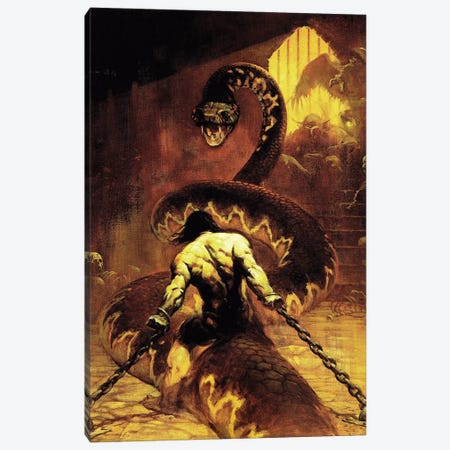 Chained Canvas Print #FRF17} by Frank Frazetta Canvas Print