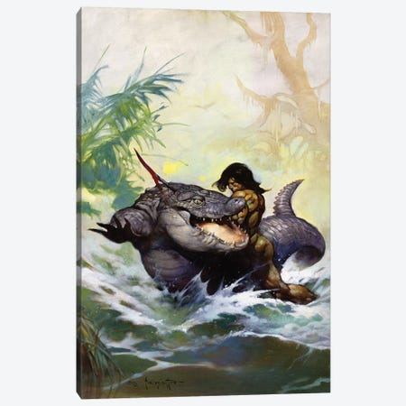 Monster Out of Time Canvas Print #FRF18} by Frank Frazetta Canvas Art