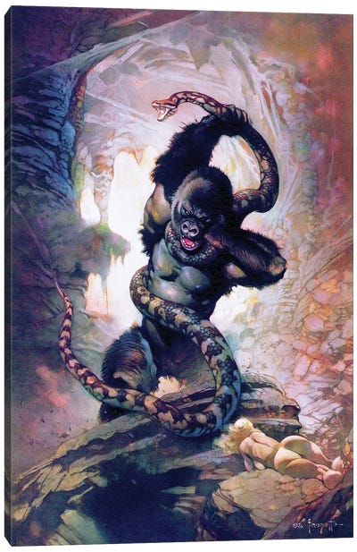 King Kong vs. Snake I Canvas Art Print