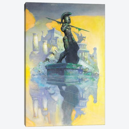 Atlantis Canvas Print #FRF1} by Frank Frazetta Canvas Art Print