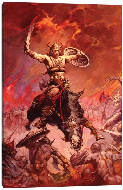 The Berserker Canvas Art Print