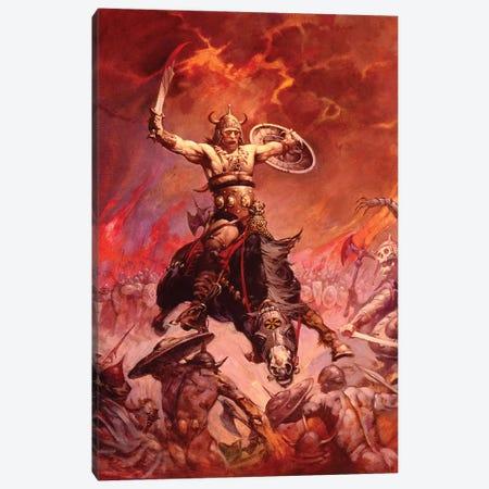 The Berserker Canvas Print #FRF21} by Frank Frazetta Canvas Art Print