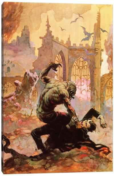 Dracula Vs Wolfman Canvas Art Print