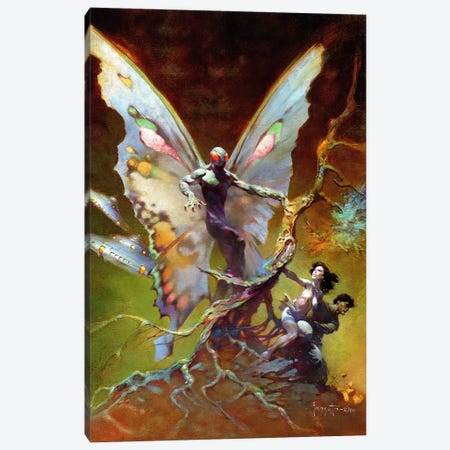 Mothman Canvas Print #FRF23} by Frank Frazetta Art Print