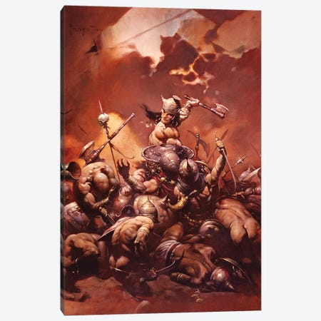Destroyer Canvas Print #FRF29} by Frank Frazetta Canvas Print