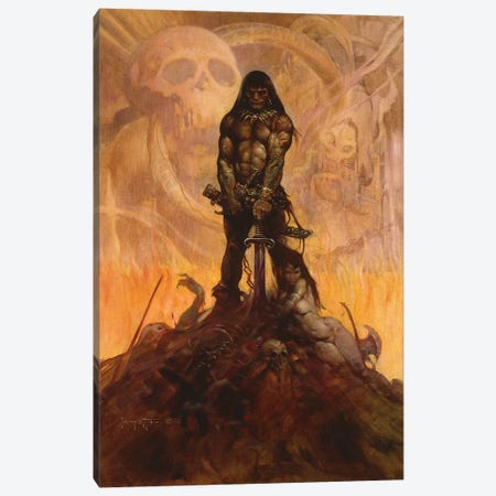 Barbarian Canvas Print #FRF2} by Frank Frazetta Art Print