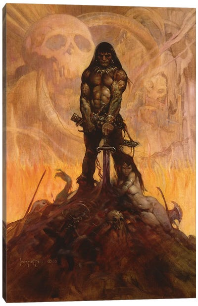 Barbarian Canvas Art Print