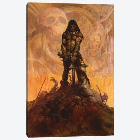 Barbarian Canvas Print #FRF2} by Frank Frazetta Art Print