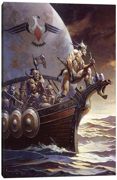 Kane On The Golden Sea Canvas Art Print