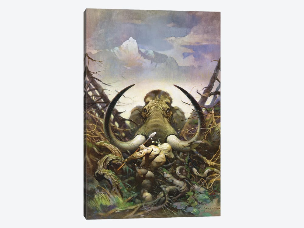 The Mammoth by Frank Frazetta 1-piece Canvas Artwork