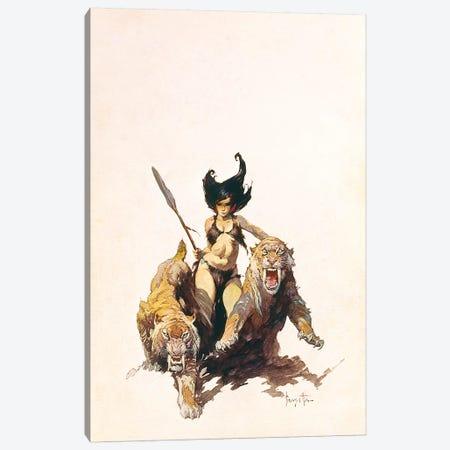 The Huntress Canvas Print #FRF36} by Frank Frazetta Canvas Art Print