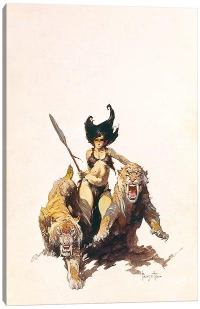 The Huntress Canvas Art Print