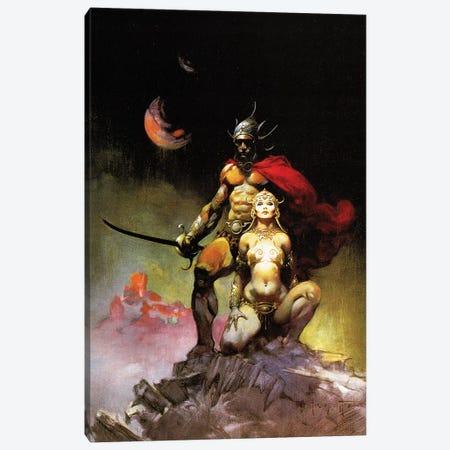 Swords Of Mars Canvas Print #FRF42} by Frank Frazetta Canvas Art Print