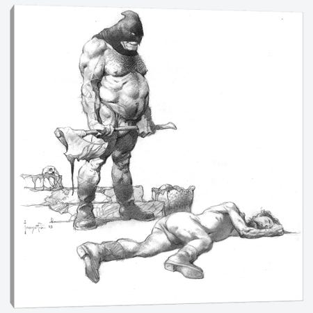 Executed Canvas Print #FRF43} by Frank Frazetta Canvas Art Print