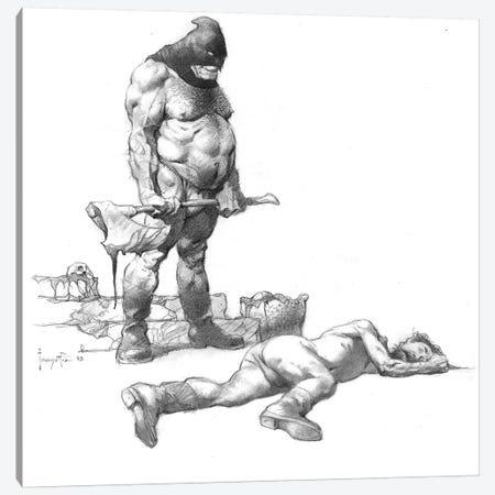 Executed Canvas Print #FRF43} by Frank Frazetta Canvas Art Print