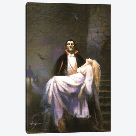 Dracula's Bride Canvas Print #FRF45} by Frank Frazetta Canvas Wall Art