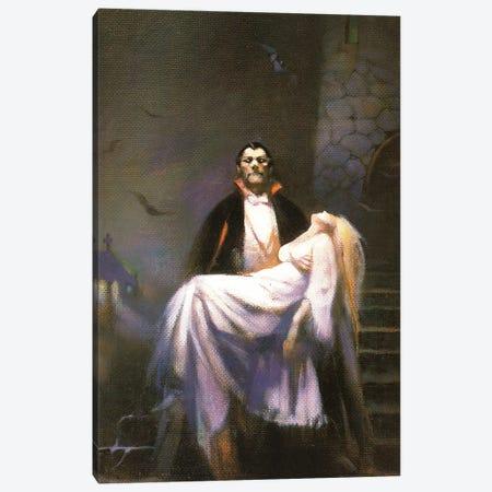 Dracula's Bride Canvas Print #FRF45} by Frank Frazetta Canvas Wall Art