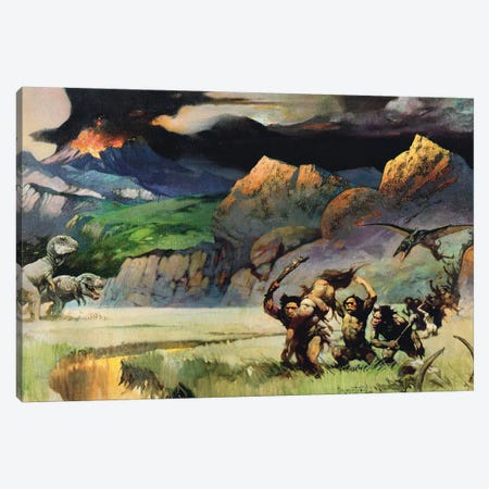 Lost World Canvas Print #FRF49} by Frank Frazetta Canvas Art Print