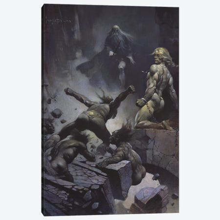 Black Star Canvas Print #FRF4} by Frank Frazetta Canvas Art