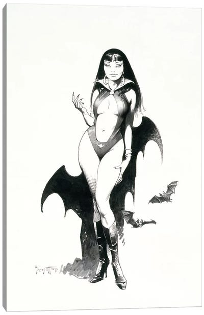 Vampire's Enticement Canvas Art Print