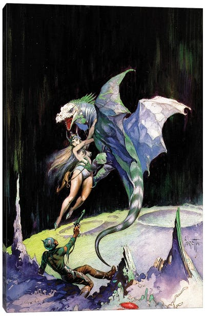 Neptune's Dragon Canvas Art Print