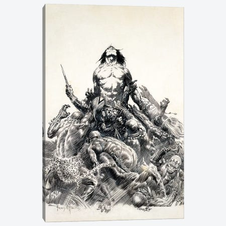 Ape Man Canvas Print #FRF59} by Frank Frazetta Canvas Wall Art
