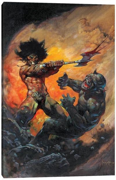 The Barbarian Canvas Art Print